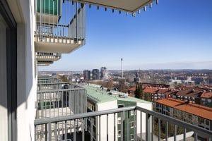 Utsikt från lägenheterna i Volrat Tham Studio Apts