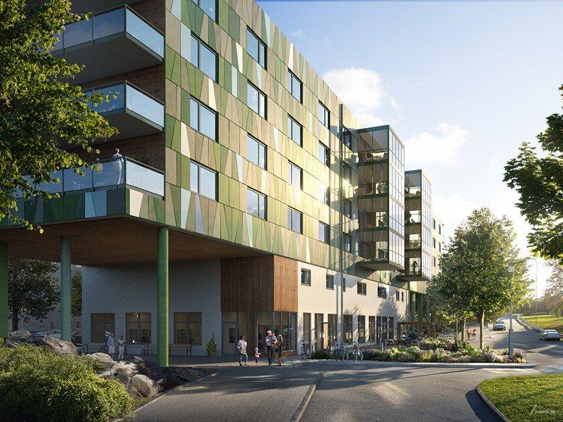 Visionsbild Smaragdgatan - Fredblad Arkitekter