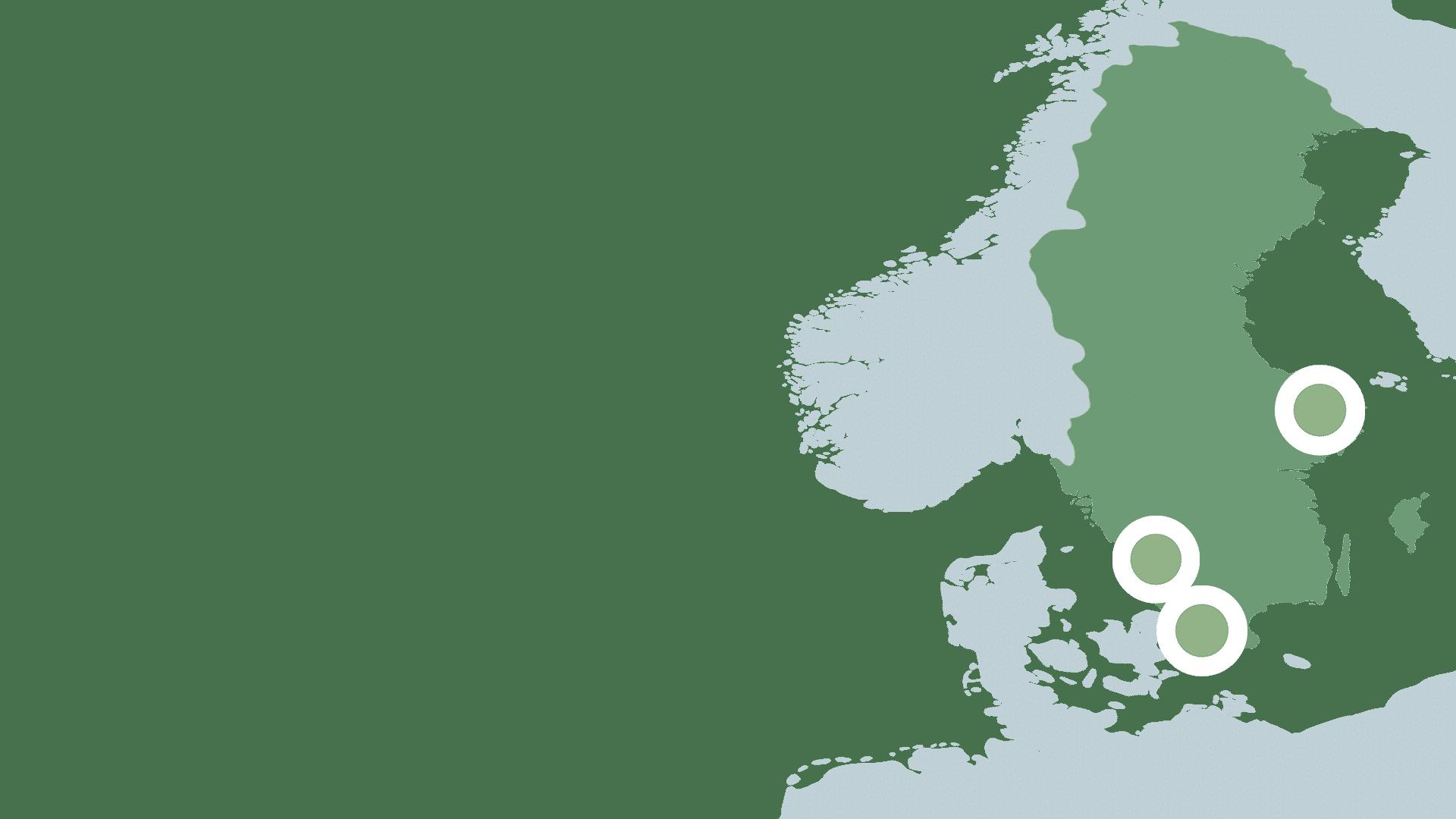 Karta med regioner